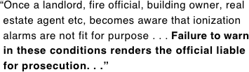 """Once a landlord, fire official, building owner, real