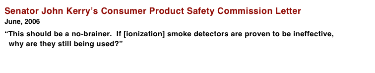 Senator John Kerry's Consumer Product Safety Commission Letter June, 2006