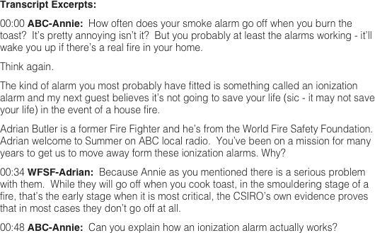 Transcript Excerpts: