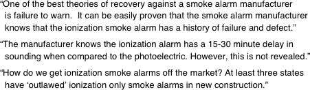 """One of the best theories of recovery against a smoke alarm manufacturer